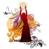 Σκιαγραφία ενός χορευτή στοκ εικόνα με δικαίωμα ελεύθερης χρήσης