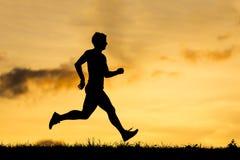 Σκιαγραφία ενός jogger Στοκ εικόνες με δικαίωμα ελεύθερης χρήσης