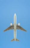 Σκιαγραφία επιβατικών αεροπλάνων στοκ φωτογραφίες