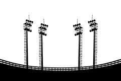 Σκιαγραφία επικέντρων Στοκ Εικόνα