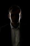 Σκιαγραφία επιχειρηματιών μυστηρίου Στοκ Εικόνα