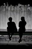 σκιαγραφία ζευγών Στοκ φωτογραφία με δικαίωμα ελεύθερης χρήσης