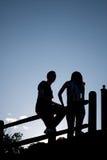 σκιαγραφία ζευγών Στοκ εικόνες με δικαίωμα ελεύθερης χρήσης