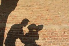 σκιαγραφία ζευγών Στοκ φωτογραφίες με δικαίωμα ελεύθερης χρήσης