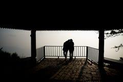 σκιαγραφία ζευγών Στοκ Φωτογραφία