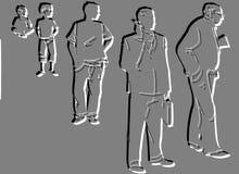 σκιαγραφία ζωής εξέλιξης Στοκ φωτογραφία με δικαίωμα ελεύθερης χρήσης