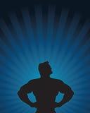 σκιαγραφία ηρώων έξοχη Στοκ Φωτογραφία