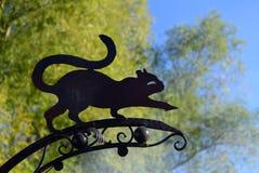 Σκιαγραφία καιρικό vane Στοκ εικόνα με δικαίωμα ελεύθερης χρήσης