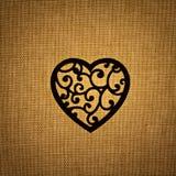 Σκιαγραφία καρδιών Στοκ εικόνες με δικαίωμα ελεύθερης χρήσης