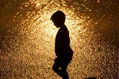 σκιαγραφία κατσικιών Στοκ φωτογραφία με δικαίωμα ελεύθερης χρήσης