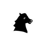 Σκιαγραφία κεφαλιών αλόγων Στοκ φωτογραφία με δικαίωμα ελεύθερης χρήσης