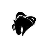 Σκιαγραφία κεφαλιών αλόγων Στοκ εικόνα με δικαίωμα ελεύθερης χρήσης