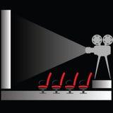 Σκιαγραφία κινηματογράφων Στοκ φωτογραφία με δικαίωμα ελεύθερης χρήσης