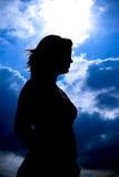 σκιαγραφία κοριτσιών στοκ φωτογραφία με δικαίωμα ελεύθερης χρήσης