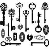 Σκιαγραφία κλειδιών Στοκ εικόνες με δικαίωμα ελεύθερης χρήσης
