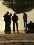 σκιαγραφία λαών Στοκ Φωτογραφίες