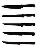 Σκιαγραφία μαχαιριών Στοκ φωτογραφίες με δικαίωμα ελεύθερης χρήσης