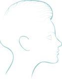 Σκιαγραφία μιας γυναίκας Στοκ φωτογραφία με δικαίωμα ελεύθερης χρήσης