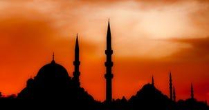 σκιαγραφία μουσουλμανικών τεμενών Στοκ εικόνα με δικαίωμα ελεύθερης χρήσης