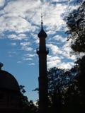 σκιαγραφία μουσουλμαν Στοκ φωτογραφίες με δικαίωμα ελεύθερης χρήσης