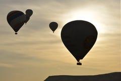 Σκιαγραφία μπαλονιών Στοκ Εικόνες