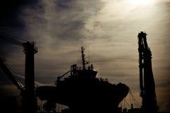 σκιαγραφία ναυπηγείων Στοκ φωτογραφία με δικαίωμα ελεύθερης χρήσης