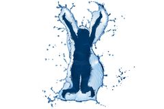 Σκιαγραφία 3 νερού Στοκ εικόνα με δικαίωμα ελεύθερης χρήσης