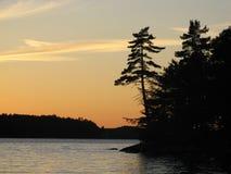 σκιαγραφία νησιών Στοκ Εικόνα