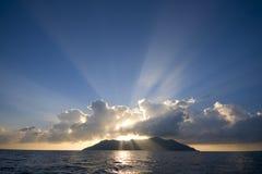 σκιαγραφία νησιών Στοκ φωτογραφίες με δικαίωμα ελεύθερης χρήσης