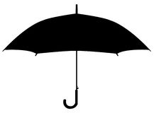 Σκιαγραφία ομπρελών Στοκ Φωτογραφία