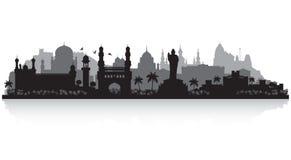 Σκιαγραφία οριζόντων πόλεων του Hyderabad Ινδία ελεύθερη απεικόνιση δικαιώματος