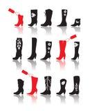σκιαγραφία παπουτσιών συλλογής Στοκ φωτογραφία με δικαίωμα ελεύθερης χρήσης