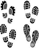 Σκιαγραφία παπουτσιών Στοκ Φωτογραφία