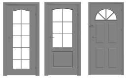 σκιαγραφία περιγραμμάτων πορτών Ελεύθερη απεικόνιση δικαιώματος
