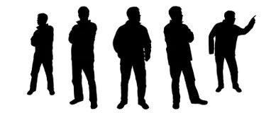 σκιαγραφία πλήθους Στοκ εικόνα με δικαίωμα ελεύθερης χρήσης