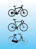 σκιαγραφία ποδηλάτων Στοκ Εικόνα