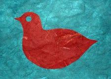 σκιαγραφία πουλιών papercut Στοκ Εικόνες