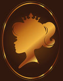 Σκιαγραφία πριγκηπισσών κοριτσιών στο υπόβαθρο σοκολάτας Στοκ φωτογραφίες με δικαίωμα ελεύθερης χρήσης