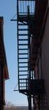 σκιαγραφία πυρκαγιάς διαφυγών Στοκ φωτογραφία με δικαίωμα ελεύθερης χρήσης