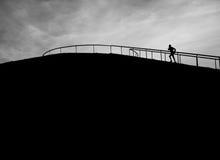 Σκιαγραφία δρομέων Στοκ εικόνα με δικαίωμα ελεύθερης χρήσης