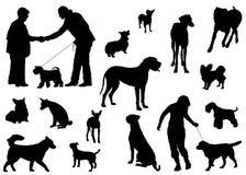 σκιαγραφία σκυλιών Στοκ Εικόνες