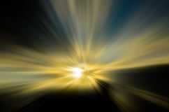 Σκιαγραφία στην αυγή Στοκ Φωτογραφίες