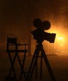 σκιαγραφία στη νύχτα Στοκ φωτογραφίες με δικαίωμα ελεύθερης χρήσης