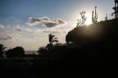 Σκιαγραφία στον ουρανό του Μπαλί στοκ εικόνες