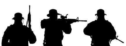 Σκιαγραφία στρατιωτών Στοκ εικόνα με δικαίωμα ελεύθερης χρήσης