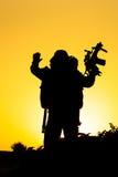 Σκιαγραφία στρατιωτών στοκ εικόνες με δικαίωμα ελεύθερης χρήσης