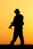 Σκιαγραφία στρατιωτών στοκ εικόνα