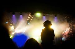 Σκιαγραφία συναυλίας Στοκ εικόνα με δικαίωμα ελεύθερης χρήσης
