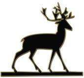 Σκιαγραφία ταράνδων Στοκ Εικόνες