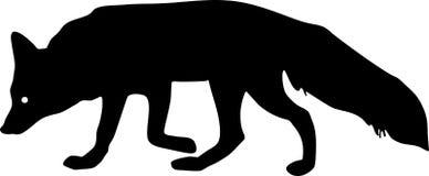Σκιαγραφία της αλεπούς Στοκ εικόνες με δικαίωμα ελεύθερης χρήσης